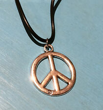 PEACE CHARM / PENDANT NECKLACE - Reversable Front & Back - Hippie / Hippy - Gift