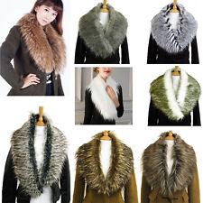 Ladies Luxury Fashion Faux Fur Collar Scarf Fluffy Winter Shawl Wrap Stole
