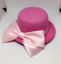 "5"" PINK COSPLAY MINI TOP PARTY HALLOWEEN BOW HAT HAIR FASCINATOR WEDDING"