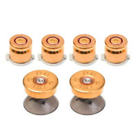 For Sony PS4/PS3 Controller 6Pcs Replacement Metal Bullet-Buttons Thumbstick Kit