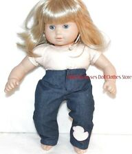 Jeans Sequin Duck Applique Fit's 15 in  Bitty Baby American Girl Doll Clothes B