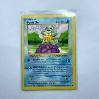 Squirtle 63/102 Base Set Shadowless Edition Pokemon Card