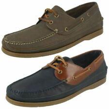 Zapatos informales de hombre náuticos de piel