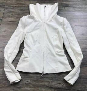 L.A.M.B Leather Trim Jacket Blazer Womens Sz 0.