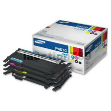 Samsung P407C Value Pack Toner Cartridges CLP-325 320N CLX3180 CLX-3185FN 3185FW