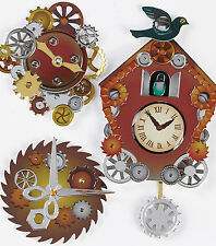 Steampunk Coo Coo Clocks Gorgeous Jolee's 3D Sticker