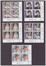 Gibraltar MNH 2001 Royalty Queen Elizabeth set cylinder blocks mint stamps