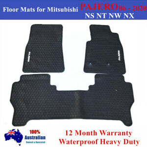 Heavy rubber Floor Mats Tailored for Mitsubishi PAJERO NS NT NW NX 2006 - 2020