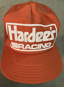Vintage Hardee's SnapBack Racing Hat Cale Yarborough 1980's Made in the U.S.A