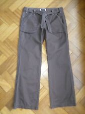 Principles size 12 brown trousers with cord detailing and belt