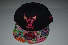 Brand New Chicago Bulls New Era 9 Fifty Snapback Hat Black Flower Brim