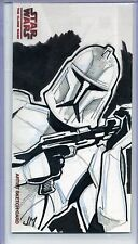 CLONE TROOPER Topps STAR WARS CLONE WARS Widevision SKETCH by JAKE MINOR 75 MADE