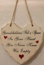 Grandchildren Fill a Space in Your Heart Sign Plaque Child Family