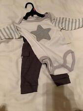 Isaac Mizrahi Baby Boy Girl Grey White Star Stripes Body Suit Cargo Pant NWT 3-6