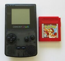 Gameboy Color System Transparent Black Refurbished, w/ Pokemon Red New Batt
