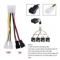 1pcs 4-Pin Molex auf 3-Pin Lüfter Power Adapter Stecker 12v * 2 / 5v * 2