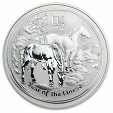 2014 Australia 10oz Silver Perth Mint Lunar Year of the Horse Coin (SII)