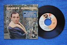 CHARLES AZNAVOUR / EP BARCLAY 70518 / LABEL 2 / BIEM 1963 ( F )