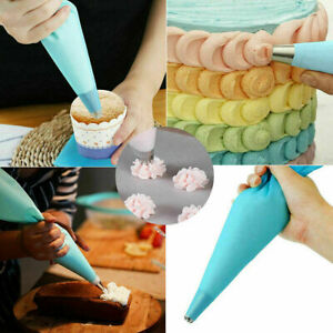 Premium Silicone Non Slip Reusable Icing piping Bags Cake Decorating Biscuit Bag