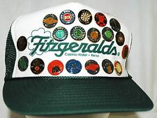 Fitzgeralds Casino Vintage Cap With 19 Dart Lapel Pins Trucker Style Cricket