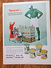 1953 Green Giant Ad  There's Out Man   Jolly Green Giant