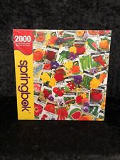 """Springbok Seed Packets Of Promise Flowers Puzzle 2000 Pieces 32 x 42 """" Sealed"""