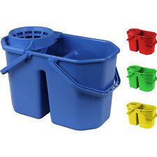 Secchio IPC professionale 15 litri a due vasche con strizzatore per mocio mop