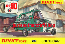 Dinky Toys 102 Joe's Car Joe 90 Gerry Anderson A4 Size Poster Leaflet Shop Sign