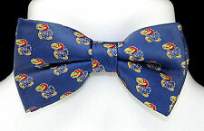 Kansas Jayhawks Mens Bow Tie Adjustable Neck University College Blue Bowtie New