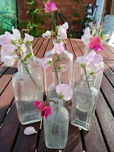 Vintage Wedding Vases medicine bottle Collection lot of 7