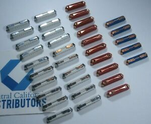 VW FLOSSER FUSE ASSORTMENT 35 PACK 20 WHITE 8A, 10 RED 16A, 5 BLUE 25A GERMANY
