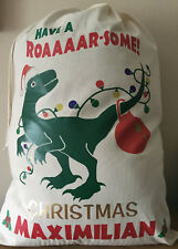PERSONALISED DINOSAUR DESIGN CHRISTMAS SACK DIFFERENT SIZES AVAILABLE L@@K!!!
