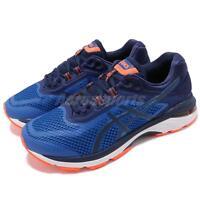 Asics GT-2000 6 4E Extra Wide Blue Orange Mens Running Shoes T807N-4549