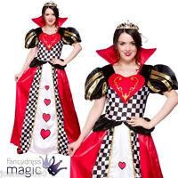 QUEEN OF HEARTS FANCY DRESS COSTUME ALICE IN WONDERLAND BOOK WEEK DAY FAIRYTALE