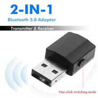 2 in1 Bluetooth 5.0 Wireless USB Audio Transmitter/Receiver Music Adapter 3.5mm