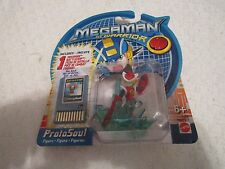 Mattel Megaman NT Warrior ProtoSoul Figure with Energy Bomb Battle Chip