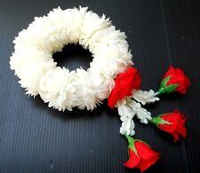 "PLASTIC FABRIC JASMINE THAI BOXING GARLAND FLORAL FLOWER SACRED SPIRIT HOUSE8 """