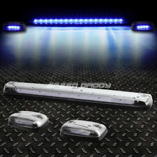 FOR 07-13 SILVERADO/SIERRA 3PCS CHROME HOUSING BLUE LED CAB ROOF RUNNING LIGHT