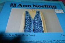 Ann Norling Knitting Pattern Side to Side Vest