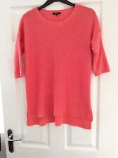 Ladies Coral Size 10 Knitted Jumper.