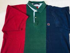 Vintage Tommy Hilfiger Men's XL Short Sleeve Polo Color Block Golf Shirt SS  #24