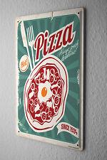 Tin Sign Retro Retro pizza