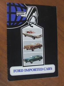 c1977 Ford Imported Cars (XC Fairmont) original UK 8 page brochure