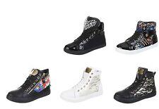 Markenlose mehrfarbige Damen-High-Top Sneaker