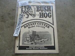 BUSH HOG Model 115 / 1115 Rotary Cutter Owner's Manual