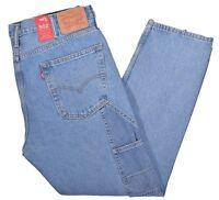 Levi's Altered 502 Mens $59.50 Carpenter Taper Patchwork Denim Jeans Choose Size