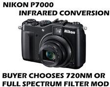 Nikon P7000-spettro completo o 720nm fotocamera digitale a infrarossi-Modalità immagine RAW