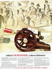 PUBLICITE ADVERTISING 056  1965  Courvoisier cognac coffret cadeau 6° Régiment A