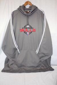 ADIDAS Gray & White CHICAGO BULLS NBA Fusion Hoodie Mens Size 3XLT-B110