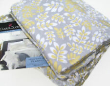 Cuddl Duds Heavyweight Multi Colors Gray Yellow Leaves Flannel Queen Sheet Set